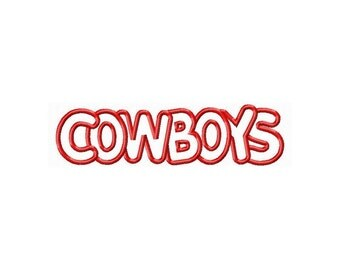 Instant Download Cowboys Embroidery Machine Applique Design -650