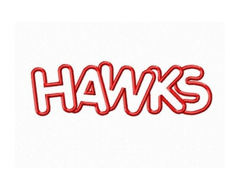 Instant Download Hawks Embroidery Machine Applique Design-646