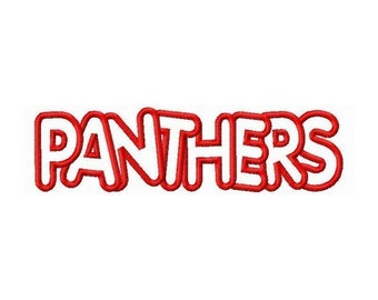 Instant Download Panthers Embroidery Machine Applique Design-673