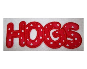Instant Download Hogs Embroidery Machine Applique Design 644