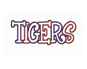 Instant Download Tigers Multi Fabric Embroidery Machine Applique Design 690