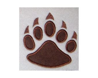 Instant Download Bear Paw Print Embroidery machine Applique Design 674