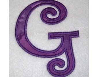 Instant Download Small Curlz Embroidery Machine Alphabet Applique Design Set-718