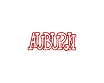 Instant Download Auburn Embroidery Machine Applique Design-841
