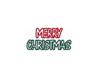 Instant Download Merry Christmas Embroidery Machine Applique Design-849