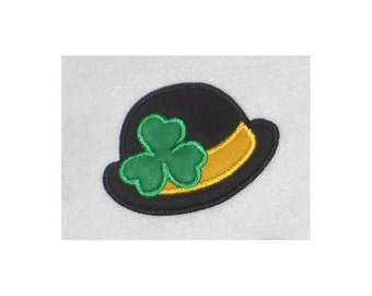 Shamrock Hat Embroidery Machine Applique Design-854