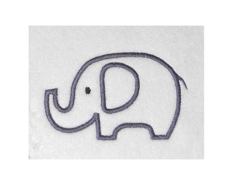 Instant Download Elephant Embroidery Machine Applique Design-860
