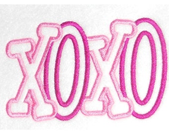 XOXO Embroidery Machine Applique Designs-865
