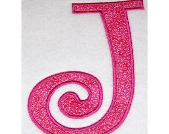 Instant Download Large Curlz Embroidery Machine Applique Design-720