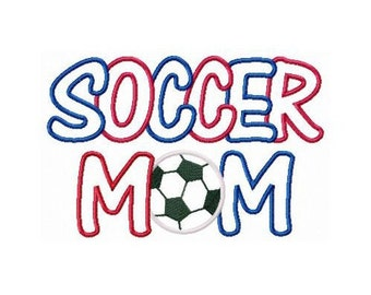 Instant Download Soccer Mom Multi Fabric Embroidery Machine Applique Design 822