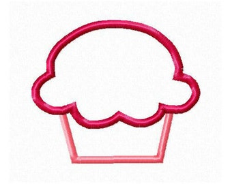 Instant Download Cupcake Embroidery Machine Applique Design-936