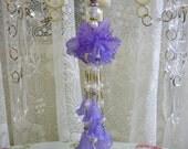 Hand Beaded Decorative Tassel - Purple Orchid - Shabby Chic