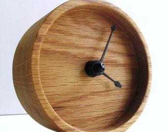 Wood Oak Clock