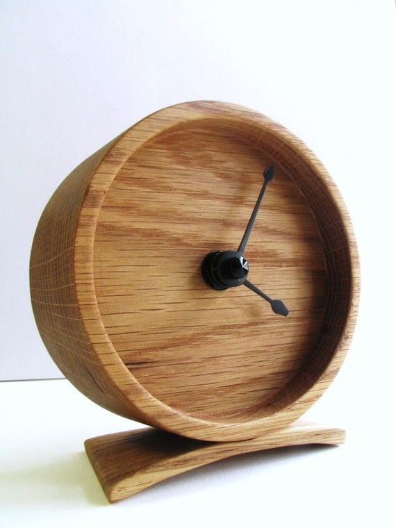 Wood Oak Clock