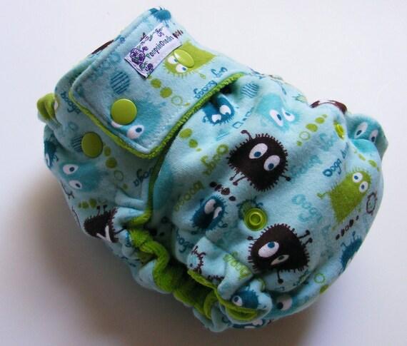 One Size Fitted Cloth Diaper Aqua Ooga