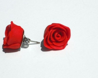 Rose Earrings (Pick Any Color)