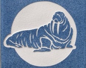 4x4 Walrus Tile Coaster