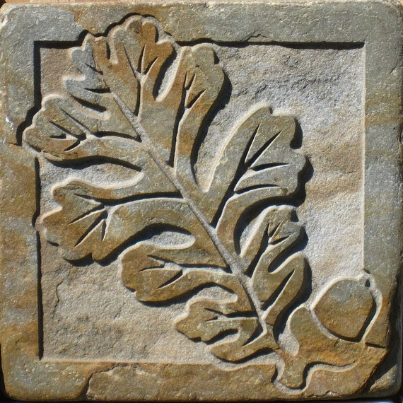 4x4 Slate Oak And Acorn Tile