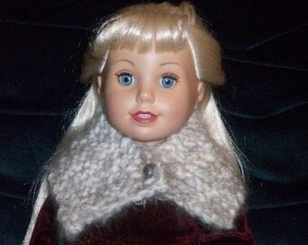 Angora Cowl for Dolls