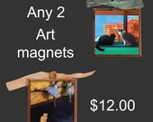 Cat Magnets- Two Cat Magnets of your Choice for Twelve Dollars