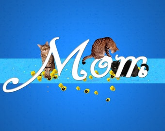 Mother's Day Card, Cat Lover, Crazy Cat Lady, Handmade Cards, Cat Art, Deborah Julian