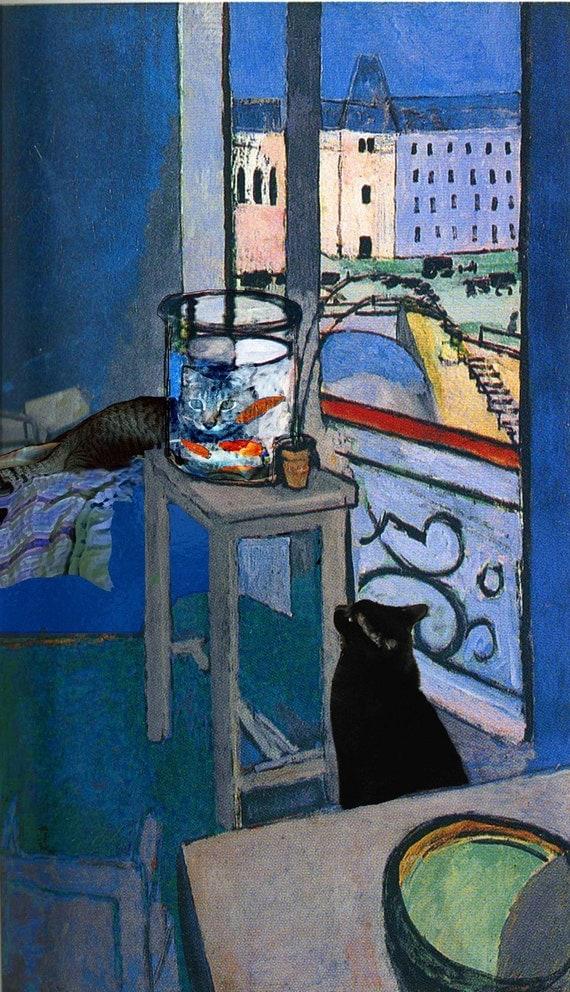 Famous Interior Paintings: Henri Matisse Cat Art Print Cat Lover Gift Cat Decor