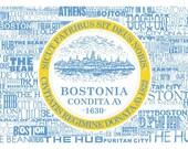 Boston Flag Nickname Canvas Gallery Wrap - 24x16