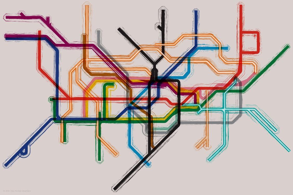 London Tube Underground Map Poster 24x16