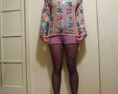 pastel sequined top