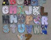 Fabric Alphabet Rag Quilt Letters