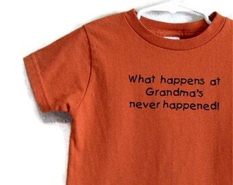 Adorable Rust Colored Screenprinted T-shirt Grandmas House