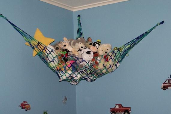 new handmade boys toy hammock stuffed animal net for teddy. Black Bedroom Furniture Sets. Home Design Ideas