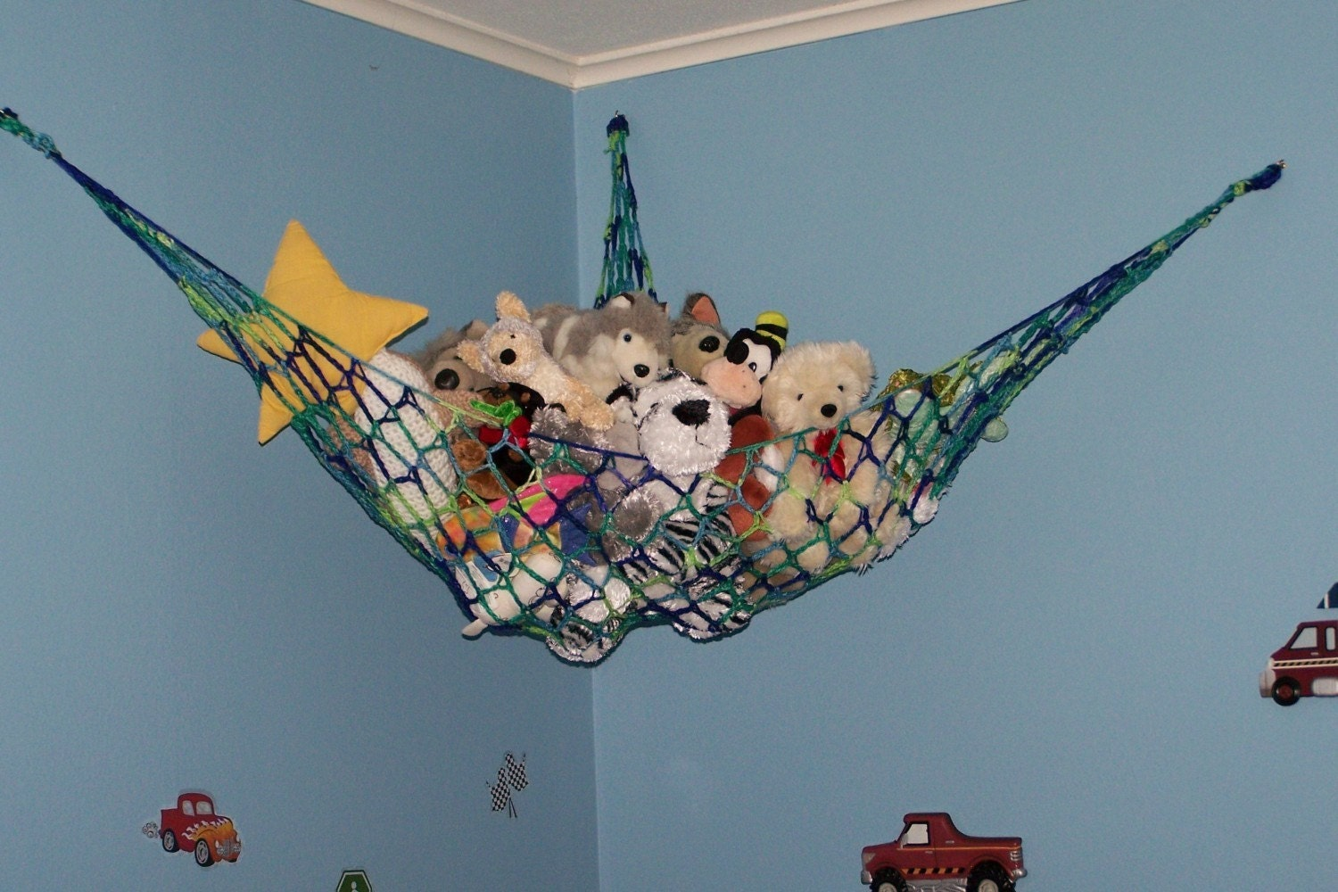 New Handmade Boys Toy Hammock Stuffed Animal Net For Teddy
