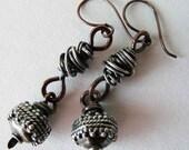 Urban Mixed Metal Dangle Earrings