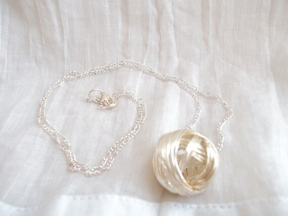 Globe Necklace -  Wire-Wrapped Ball pendant