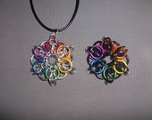 Celtic Star Rainbow Chainmaille Pendant