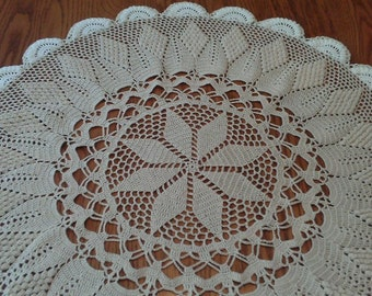 Diamond Jubilee Table Topper...hand crocheted by chubbychick ..FREE Shipping