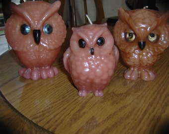 Vintage Owl Candles  Free Shipping