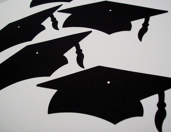 25 Die Cut Large Graduation Caps - You choose the color(s) for Card Making, Invitations, Scrapbooking or Graduation Party Decorations