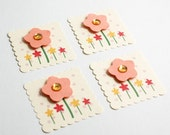 Flower Garden 2x2 Tags\/Embellishments (4)
