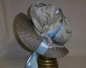 CLEARANCE SALE! 25% OFF- Bonnet- Silvery Blue and Taupe- Regency, Georgian, Jane Austen Era Bonnet