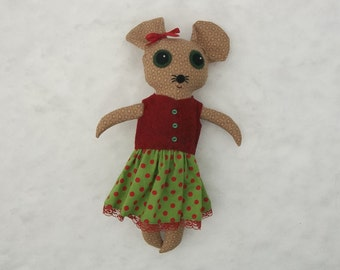 Gretchen the Big Eyed Mouse Doll