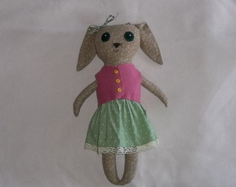 Natalie the Big Eyed Rabbit Doll