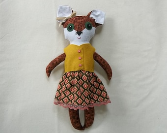 Sadie the Big Eyed Fox Doll