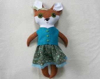 Hazel the Big Eyed Fox Doll