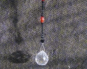 Black and Red Crystal Suncatcher