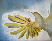 Woodpecker In Flight- an original watercolor painting