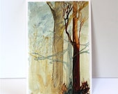 Watercolor painting reproduction Ghost Trees PRINT 8x12 Fine Art Giclee Print