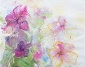 Floral Painting, Summer Garden 2, Lillies, original fine art, gift