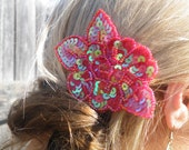 75% of this item, enter LOVE2016 at checkout.  Red Sequin Hair Clip, Sequin Hair Clip, Sequin Hair Accessory, Hair Clip, Decorative Clip